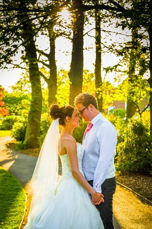 Shyma and david at The Marriot Tudor Park Hotel