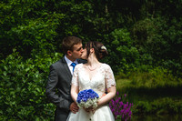 Jess and Rob at The Powder Mills Hotel
